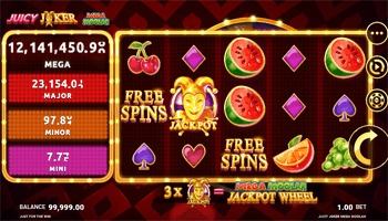 Juicy Joker Mega Moohlah progressive jackpot slot