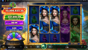 Sisters of OZ: WowPot progressive jackpot slot